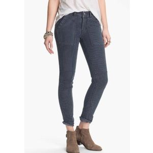 Free People pinstriped skinny jeans